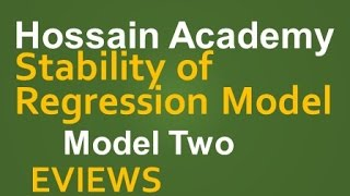 Stability of Regression Model. Model Two. EVIEWS