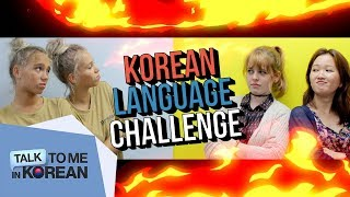 Korean Language Challenge with Lisa and Lena! (리사와 레나의 한국어 도전!)