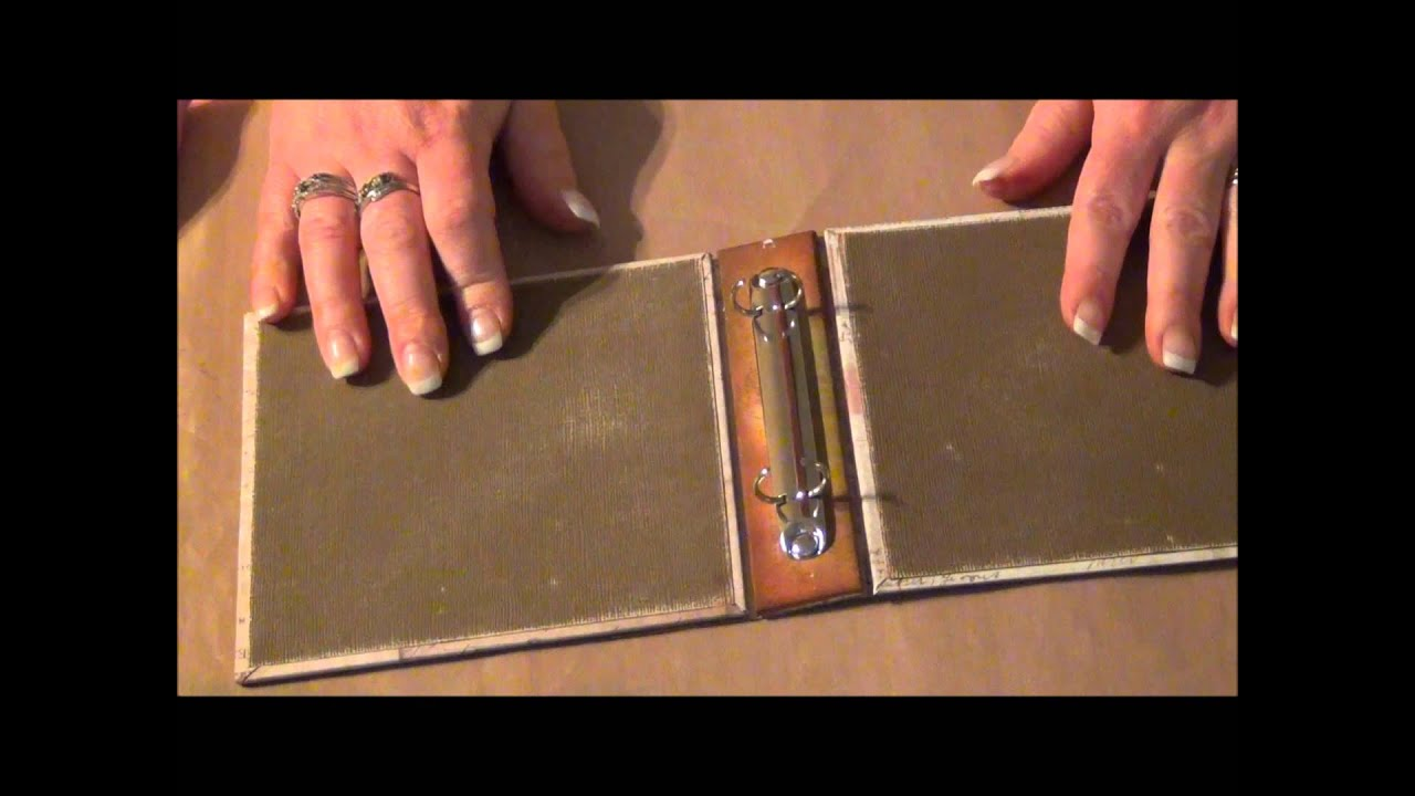 Tim holtz binder ring mini part youtube for American crafts 3 ring scrapbook album binder