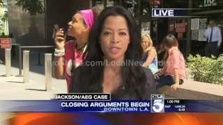 Michael Jackson groupie arrested on live TV @ Jackson / AEG trial