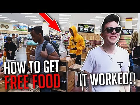 HOW TO GET FREE FOOD ANYWHERE! ft. JuJu Smith