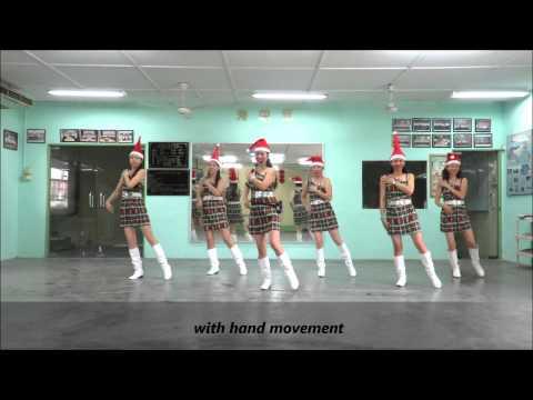 Christmas Bachata Line Dance(demo & Walk Through) (6 12 14) video