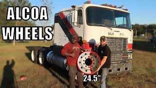 BARN FIND ALUMINUM RIMS FOR MY CABOVER INTNATIONAL