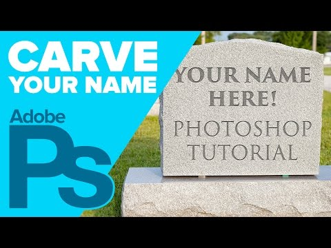 Carve your name on a TOMBSTONE in Photoshop for HALLOWEEN!