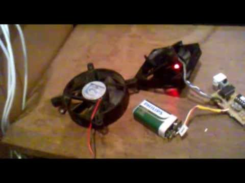 homemade digital anemometer (wind speed meter) with ATtiny2313 and wireless probe