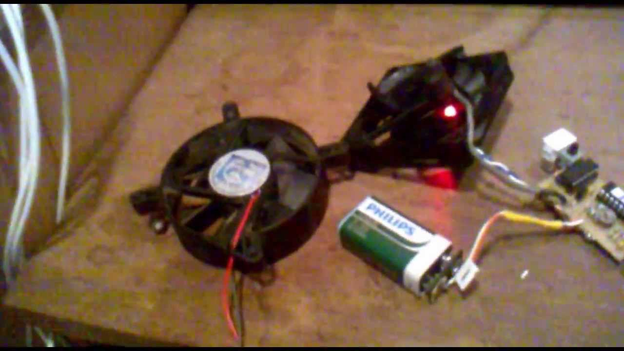 homemade digital anemometer wind speed meter with