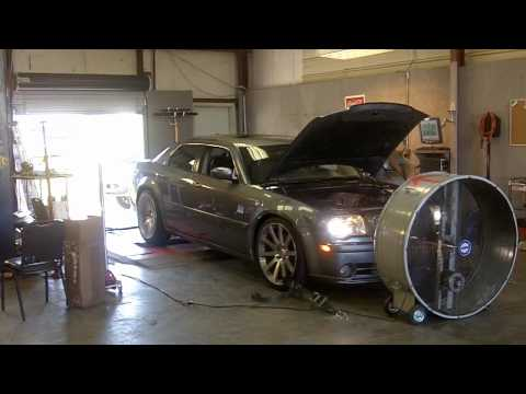 Supercharged 6.1 chrysler 300 SRT8 Dyno on 22