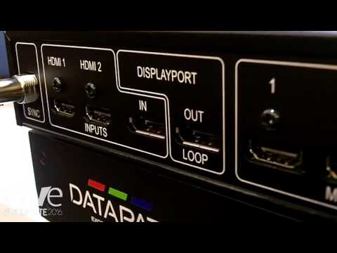 Integrate 2016: Datapath Showcases 4K@60Hz Fx4 Video Wall Controller on the Midwich AV Stand