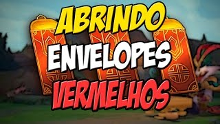 Abrindo ENVELOPES VERMELHOS FESTIVAL LUNAR - ( BAÚS HEXTEC ) - League of legends