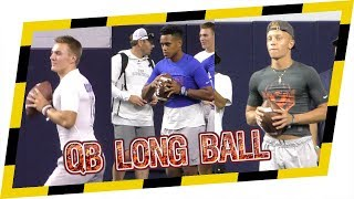 🔥🔥 2018 The Opening - QB Long Ball Competition! Quarterbacks letting it RIP!