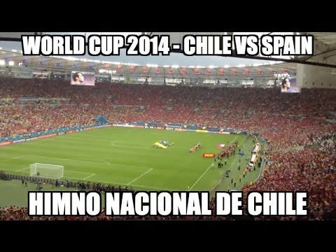World Cup 2014 - Chile vs. Spain (Himno Nacional de Chile, National Anthem)