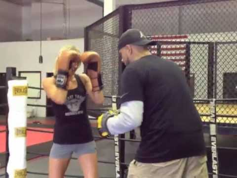 Coach Rick: Boxing Focus Mitt Drills / Womens Boxing Padwork Training Fitness Workout Image 1