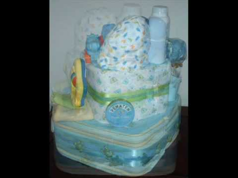 How To Make A Square Diaper Cake