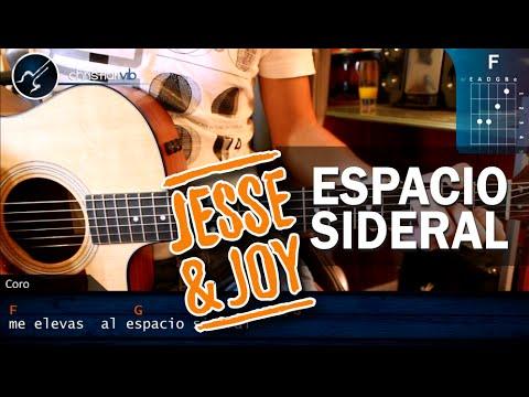 Como tocar Espacio Sideral JESSE JOY en Guitarra Acustica HD Tutorial Acordes