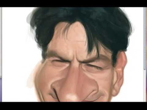 Charlie Sheen - Speedpainting by Ilustra Guga