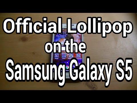 Lollipop Running on the Samsung Galaxy S5