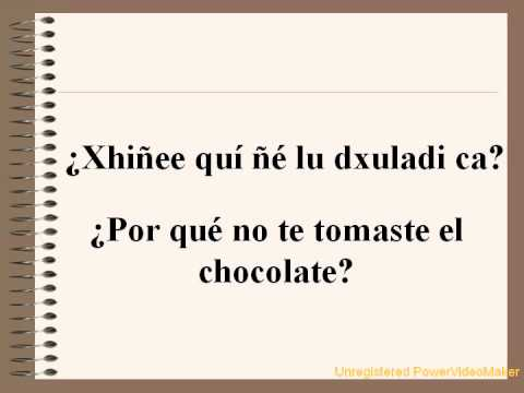 10 palabra lengua zapoteca: