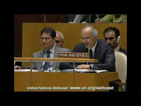 Syria: H.E. Mr. Bashar Ja'afari - General Assembly GA-11250 - June 7, 2012