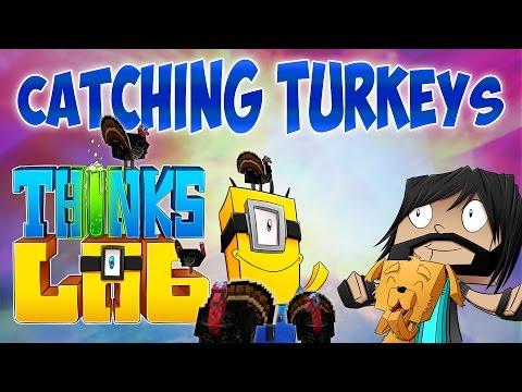 THE GREAT TURKEY HUNT!! | Think's Lab Minecraft Mods [Minecraft Roleplay]