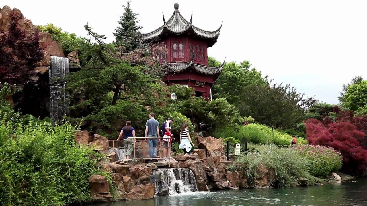 Le jardin botanique de montr al qu bec canada youtube for Jardin botanique de conception