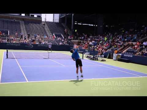 Andy Murray US Open Practice 2014