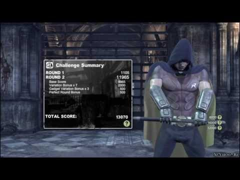 Batman: Arkham City - ROBIN (Combat Challenge Gameplay)