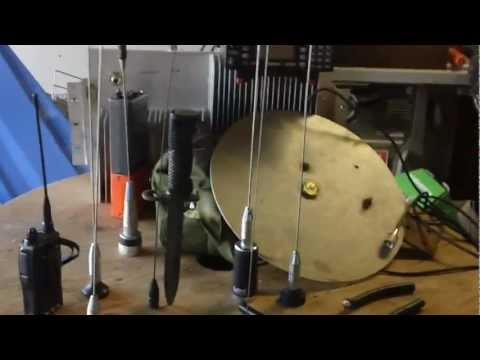 Preparedness Scanner Antenna Demo, Home Base DISCONE antenna for scanners & backup.