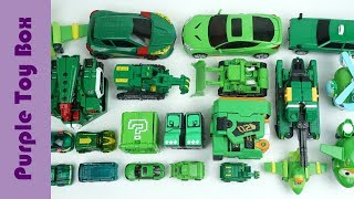 23x groene transformator Robot speelgoed collectie, dier- en auto-transformatoren