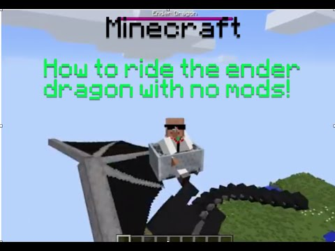 Minecraft: How To ride the Ender Dragon With No mods!!(1.7.9)