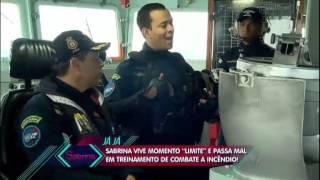 programa da sabrina Sato encara treinamento pesado em navio da Marinha, no Rio de Janeiro 06 06 2015