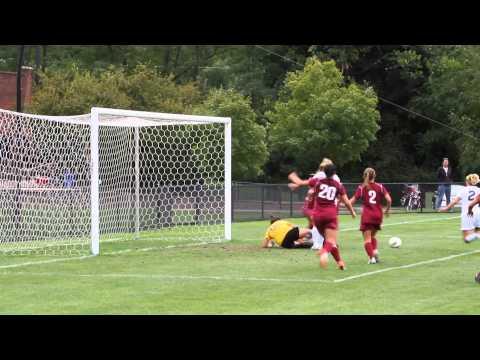Jess scores off corner kick