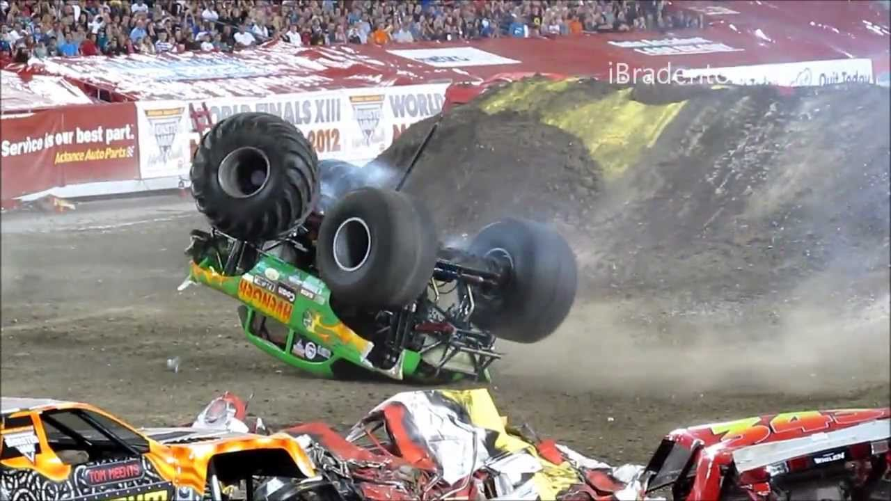 Monster Jam 2012 Tampa Truck Crash Compilation 720p