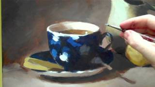How to paint acrylic still life - time-lapse still life tutorial
