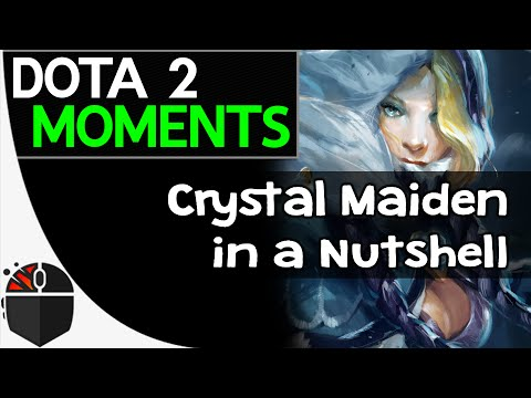 Dota 2 Moments  Crystal Maiden in a Nutshell