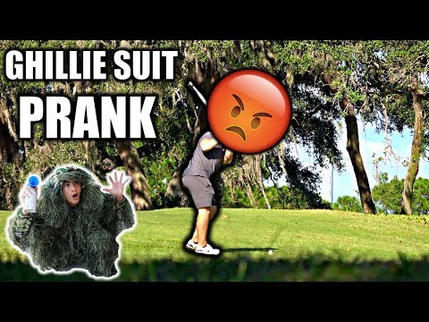 GHILLIE SUIT GOLF COURSE AIR HORN PRANK**BEHIND THE SCENES** thumbnail