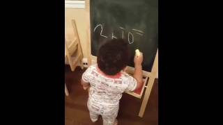 kids are so smart - 2 year old doing math, amazing!!