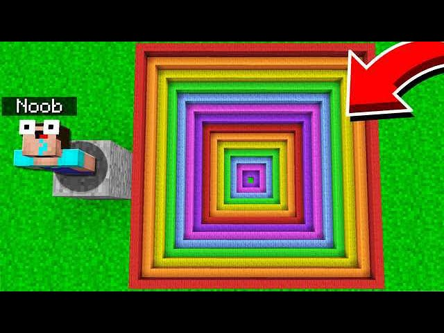 WORLD'S EASIEST RAINBOW MINECRAFT DROPPER!