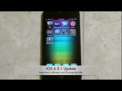 iOS 6.0.1 Has Been Released IMPORTANT Jailbreak & Downgrade Info