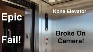 EPIC FAIL!!!!! The Kone EcoDisc Scenic elevator is having major issues & breaking on camera!