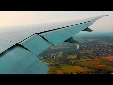 Air Canada 777-300ER Incredibly Smooth Landing at London Heathrow!