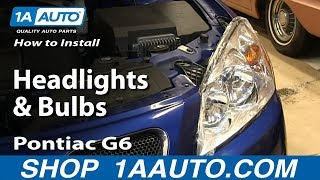 How To Install Replace Change Headlights and Bulbs 2005-10 Pontiac G6 Sedan