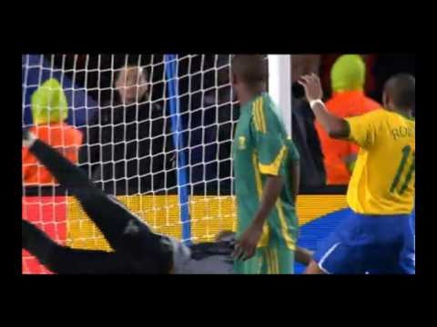 Brazil vs South Africa 1-0 Dani Alves Goal [HD]