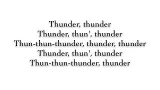 Download Lagu Imagine Dragons - Thunder ( Lyrics ) Gratis STAFABAND