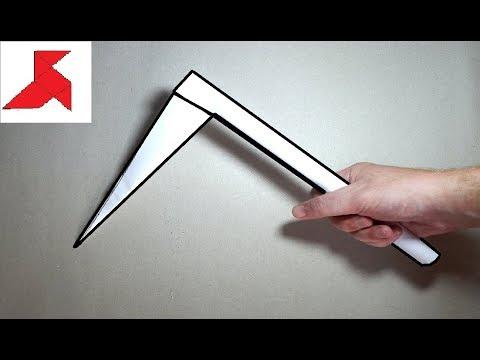 DIY - Как сделать боевой серп КАМА из бумаги а4 своими руками?
