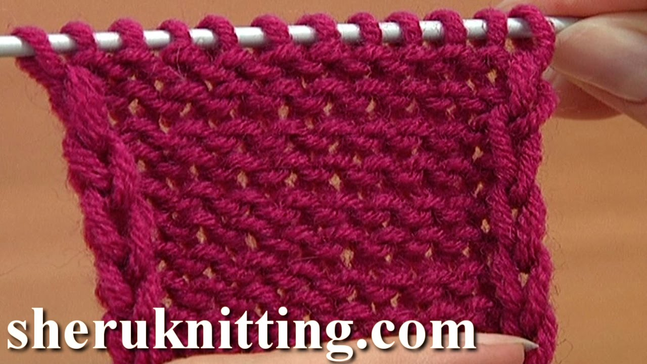 How to Knit The Reverse Stockinette Stitch Tutorial 5 Part 1 of 2 First Way -...