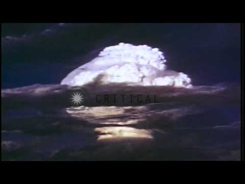 Ivy Mike hydrogen bomb test at Enewetak atoll, Marshall Islands. Shock waves...HD Stock Footage