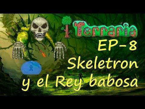 Terraria -EP8- El rey babosa y Esqueletron !