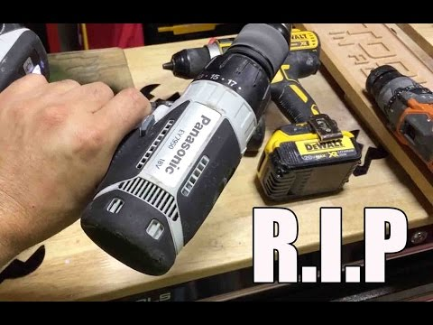Ultimate 18V tool fight -  Update Panasonic EY7950 Fail