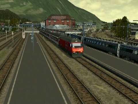 Simulazione dell'arrivo ad Arth Goldau dell'Intercity 259 da Lucerna con annunci all'arrivo. Scenario/Routes/Strecken: Biberbrugg - Arth Goldau - Luzern.