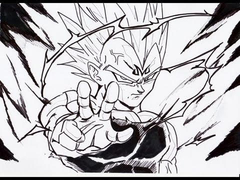 Dragon Ball z Majin Vegeta Drawing How to Draw Majin Vegeta Final